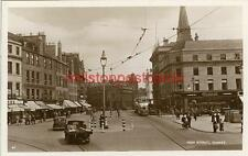REAL PHOTOGRAPHIC POSTCARD OF THE HIGH STREET, DUNDEE, ANGUS, SCOTLAND, JB WHITE
