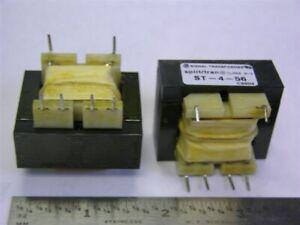 2 Signal Trans. ST-4-56 115V/28V Dual Secondary Transformers