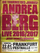ANDREA BERG  2017 FRANKFURT ++ orig.Concert Poster - Konzert Plakat A1 F/N