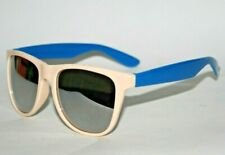 NEW Funky Party Fashion Retro Style Nerd Duo Blue Silver Lens Sunglasses Mirror