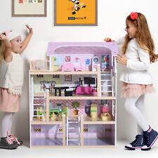 Homcom Kinder Puppenhaus Puppenstube Barbiehaus Dollhouse 4 Etagen mit Mצbeln