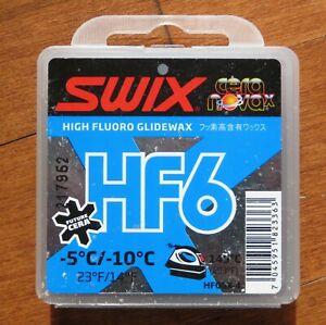 Swix HF6X Blue High Fluoro Ski Wax 40 grams  New