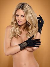 Elegante guantes negros armstulpen con cierre agudo ** RWOB 025