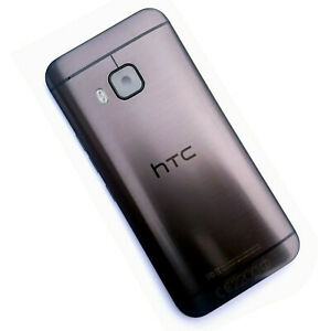 100% Genuine HTC One M9 rear housing+camera glass battery cover back side Black