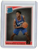 SHAI GILGEOUS-ALEXANDER Clippers 2018-2019 DONRUSS RATED ROOKIE #162