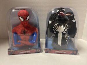 Venom & Spider-Man New Coin Piggy Bank 2020 Marvel Brand New Vinyl Figure Bust