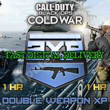 [1 HOUR] Double Weapon XP Call of Duty Black Ops Cold War Warzone 2XP WXP Token