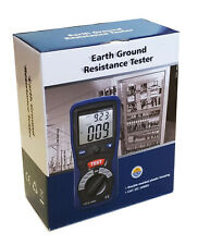 Cem Dt-5300 Digital Earth Ground Resistance Tester Ohm Dc Ac Volt Meter w/ Bag