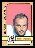 1972-73   O PEE CHEE   OPC   #340   GERRY  CHEEVERS    NR-MT-MT  OR BETTER
