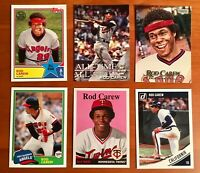 Rod Carew Modern Card Lot with Flagship & Inserts - 6 Cards!