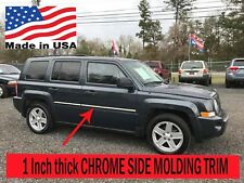 """TYGER Fits 07-2015 Jeep Patriot Lower Accent Body Side Molding Trim 1/"""" Wide 4PC"""