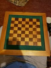 Wooden Handcrafted Chess or Checker Board