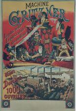 """""""MACHINE à COUDRE GRITZNER"""" Affiche originale entoilée  Litho RILLE  70x100cm"""