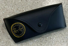 Vtg Ray-Ban Sunglasses Case Black Made In Italy Red Lining Sun Glasses Pouch EUC