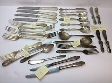 Silverplate Flatware Lot 29 Pcs DJ Korea,Amsilco Japan, Carlton Cherie & More