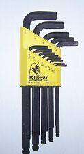"Bondhus 10937 13-Piece, .050"" To 3/8""  Ball Driver L-Wrench Set"