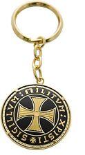 Damascene Gold Keychain Round Knight Templar Cross by Midas of Toledo Spain 8307