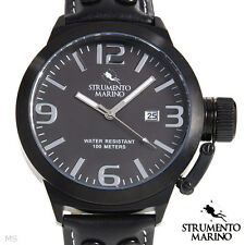 STRUMENTO MARINO MONTEGOBAY Mens GENUINE LEATHER Date Water Resistant Watch