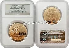 France 1986 Statue of Liberty 100 Francs 1/2 oz Gold NGC PF 69 ULTRA CAMEO
