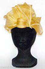 CHAPEAU taille M de cérémonie Les 3 CHAPEAUX femme jaune French yellow hat hut