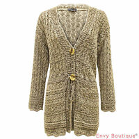 LADIES KNITTED BOYFRIEND CROCHET SHRUG CARDIGAN WOMENS DRESS TOP PLUS SIZE 16-32