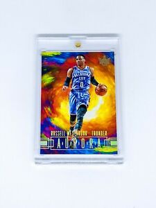 2017-18 Panini Court Kings Aurora No 5 Russell Westbrook Thunder Case Hit SSP