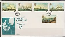 GB JERSEY 1985 P.J.Ouless Artist Series VI/Paintings/Sailing Ships SG 352/56 FDC