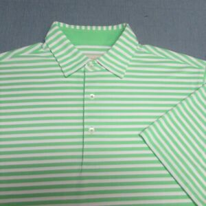DONALD ROSS POLY GOLF SHIRT--L--STRIPES--WRINKLE FREE--FLAWLES!!!!