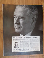 1962 Lincoln National Life Insurance Ad Will You Retire Life of Comfort or Want?