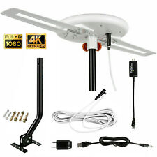 Omni-directional Digital Amplified Outdoor TV Antenna HD VHF 40ft Cable J-Pole