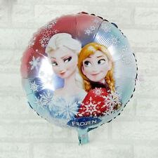 "18"" Character Elsa & Anna Foil Helium Childrens Birthday Balloons Decorations"