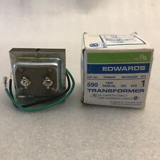 New Listingedwards 590 Class 2 Low Voltage Signaling Transformer 120 Volt Ac Primary 10v