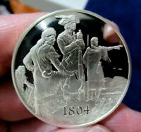 Silver Medal, 1804 Lewis and Clark Blaze Trail West, 1.05 Troy Oz. Sterling
