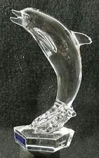 Waterford Crystal Dolphin Porpoise Paperweight Sculpture