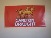 Carlton Draught Beer PVC Vinyl Banner Flag Poster Sign 1000x1800mm FREE DELIVERY