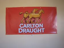 Carlton Draught Beer PVC Vinyl Banner Flag Poster Sign 1000x1800mm