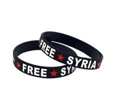 Free Syria Silicone Rubber Wristband bracelet jewelry new 1pcs