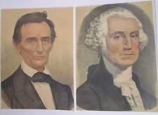 President George Washington, President Abraham Lincoln  2 art prints set
