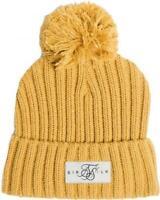 Sik Silk SikSilk Bobble Knit Beanie Hat Mustard