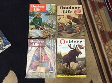 4 Vintage 1931 1946 1948 Outdoor Life Magazines Moose Fishing Decoy Covers