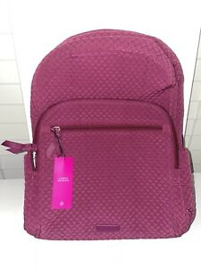 Vera Bradley Iconic Campus Backpack - Passion Pink- NEW WITH TAGS- Large