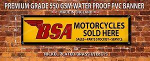 BSA SOLD HERE WATERPROOF 550GSM GRADE PVC BANNER.GARAGE,WORKSHOP BANNER
