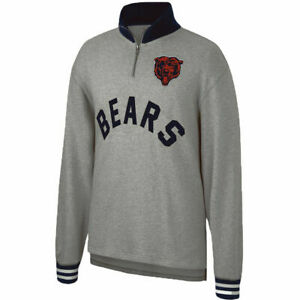 Mitchell & Ness Heather Grey NFL Chicago Bears Sealed The Victory 1/4 Zip