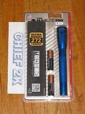 MAGLITE PRO 2 Cell AA LED Flashlight, Blue Mag Lite Maglight 272 Lumens
