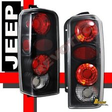 97-01 Jeep Cherokee Black Tail Lights Lamps 1 Pair 98 99 00