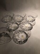 "Seven HAWKES ""Chantilly"" Finger Bowls - RARE Set American Brilliant Cut Glass"
