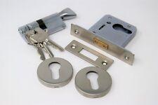 "Qube Sashlock 3/"" 76 Mm Euro Lock Case laiton poli serrure porte"