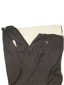 Women's Under Armour Gray Running Tights Athletic Pants Sz XL Stretch Athleisure