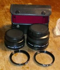 PHOTOCO VIDEO WIDE ANGLE & TELEPHOTO CONVERTERS 46mm/S-VII & CASE