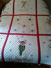 Pottery Barn Christmas Reindeer Cotton Quilt - (Full / Queen)